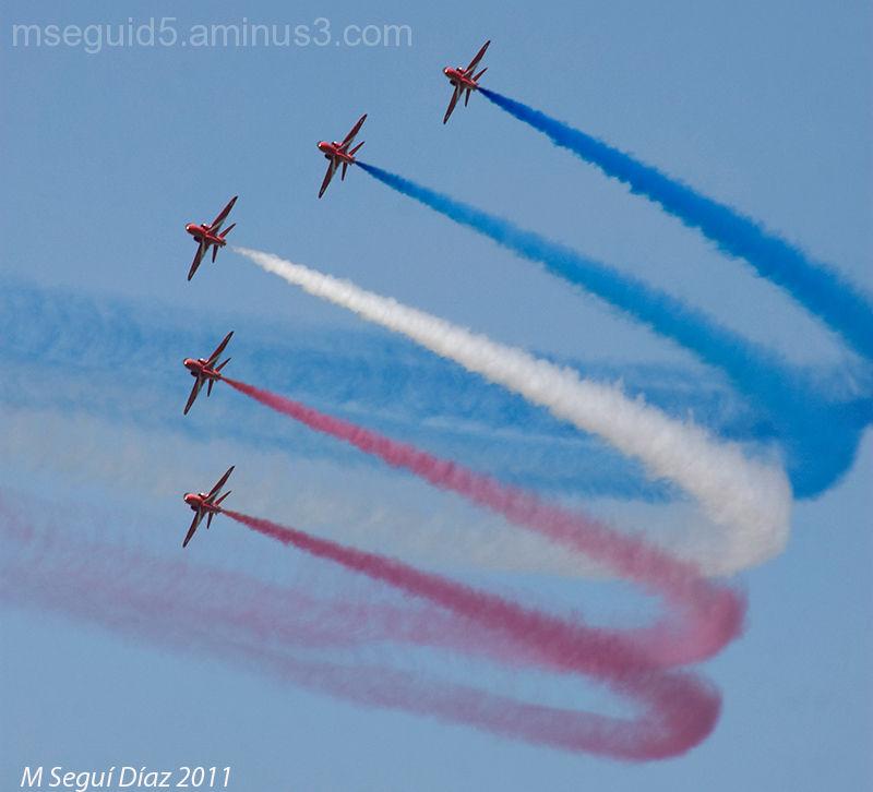 Red arrows  -Royal Air Force- en Port-Mahón