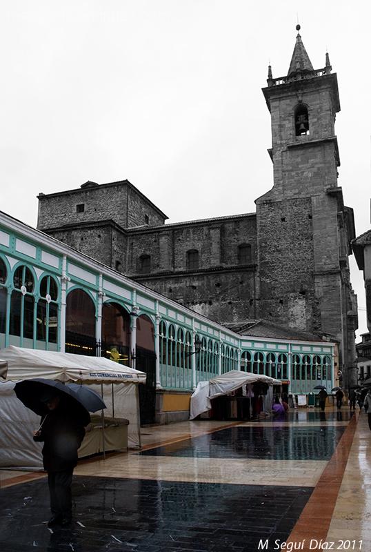 Dia de mercado lluvioso