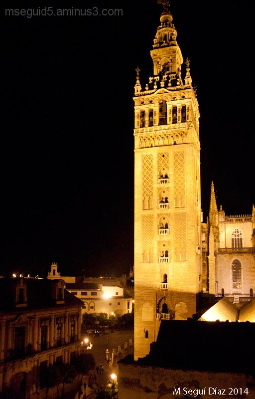 La Giralda (Sevilla) de noche