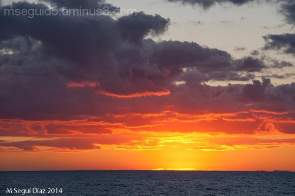Puesta de sol sobre Mallorca