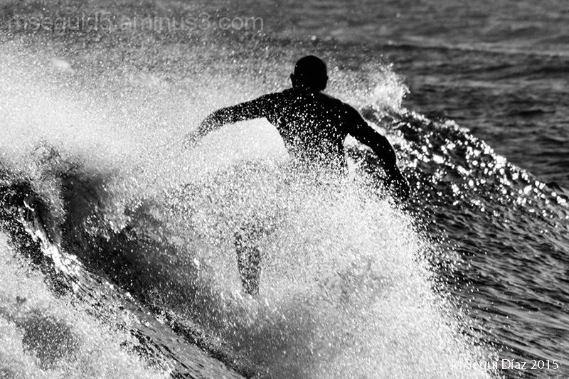 Peleando con las olas