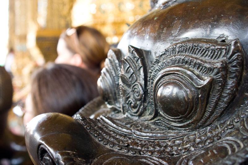 Thai Temple dragon statue