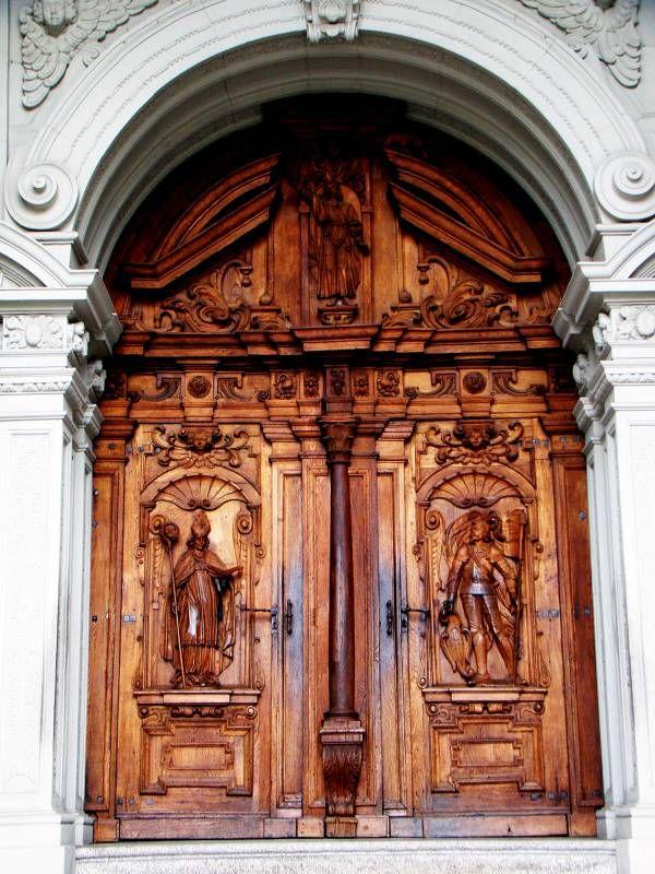 swiss church door