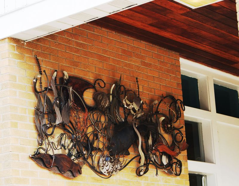 House entrance artwork