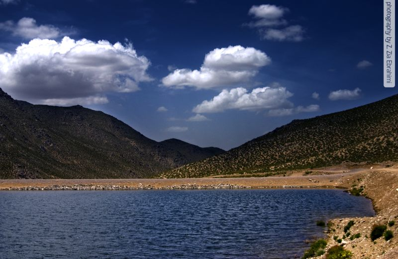 blue lake(Lalezar_Kerman_Iran)