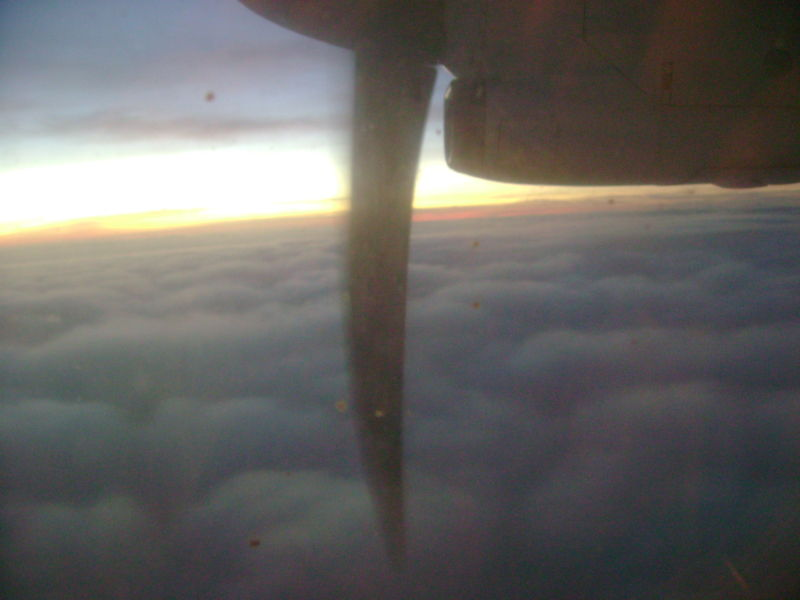 From the aircraft