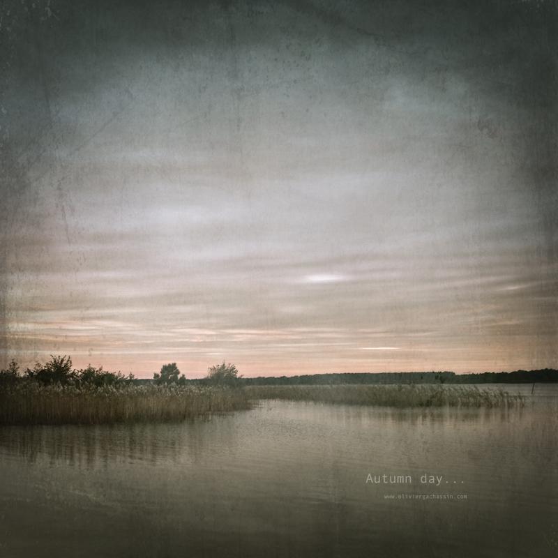 lake, autumn, fine art, mood, color, landscape