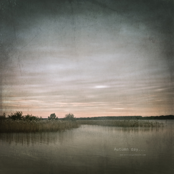 lake, autumn, fine art, mood, color, landscape
