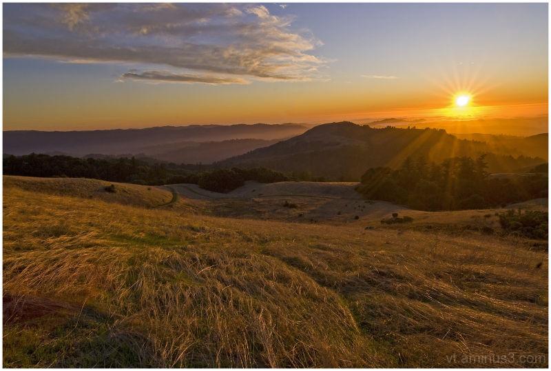 Sunset on Russian Ridge, Skyline Blvd, Palo Alto