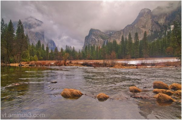 Storm in the valley, Yosemite, CA