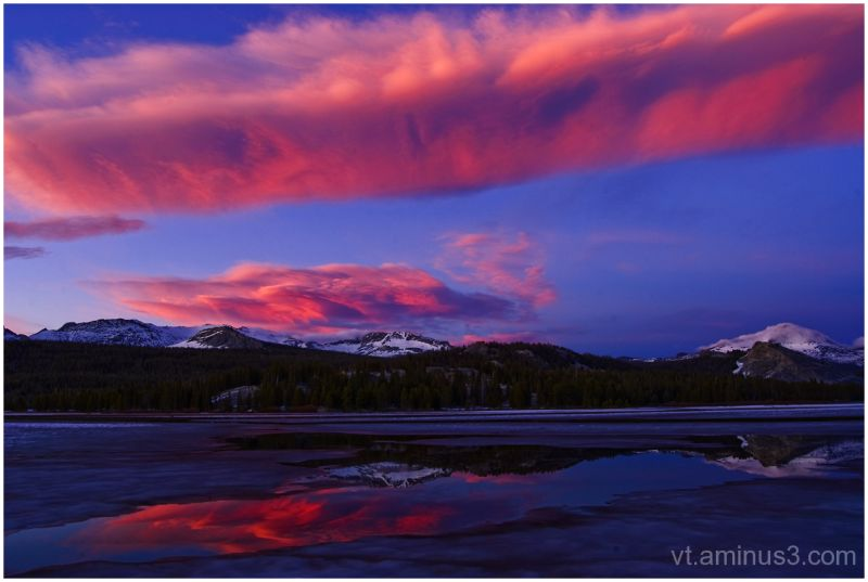 Fiery Sunset over Tuolumne Meadows