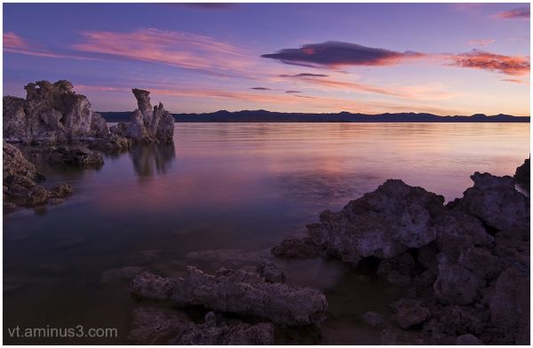Pastel hues and Tufas at Sunrise, Mono Lake, CA