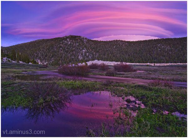 Pastel Sunset at Horseshoe Meadow, Eastern Sierra