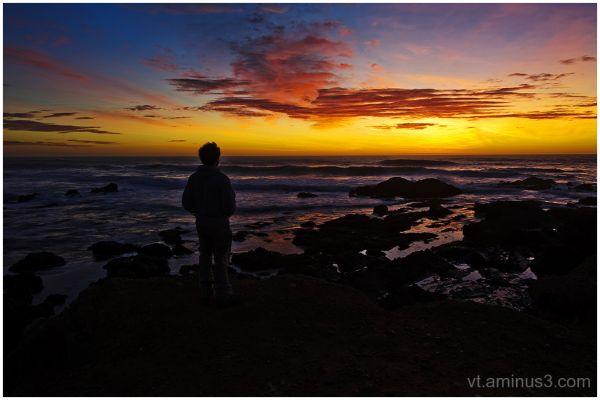 Sunset over Pacific, San Mateo Coast, CA