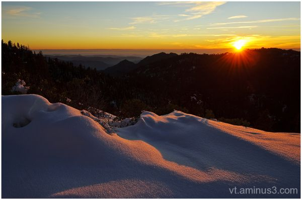 Sunset from Sunset Rock, Sequoia National Park, CA