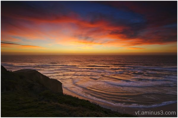 Vivid Winter Sunset, San Gregorio, CA
