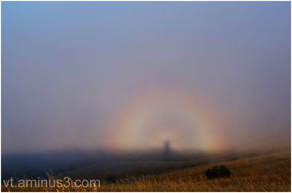 My Brocken Spectre and Glory, Russian Ridge, CA