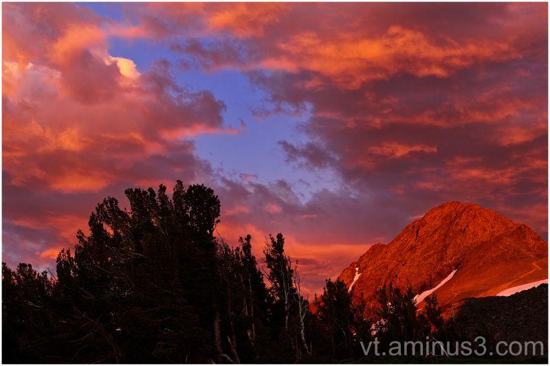 Wild Light on Round Top Peak, near Carson Pass, CA