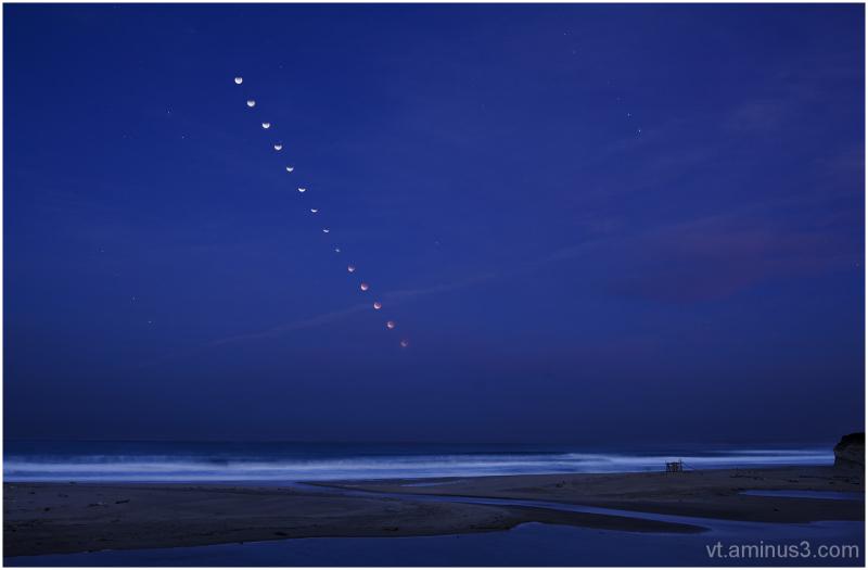 Lunar Eclipse Sequence, San Gregorio SB, CA