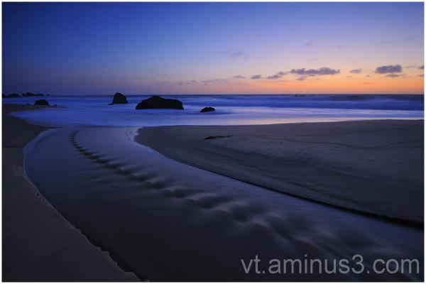 Dusk, Garrapata State Beach, Big Sur, CA