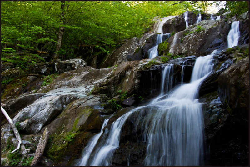 A waterfall in the Skyline Drive, VA