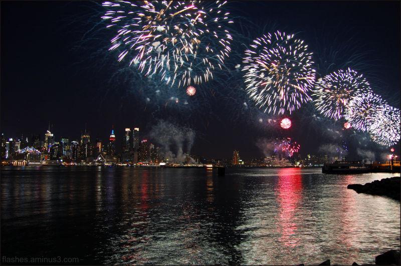 Fireworks against Skyline