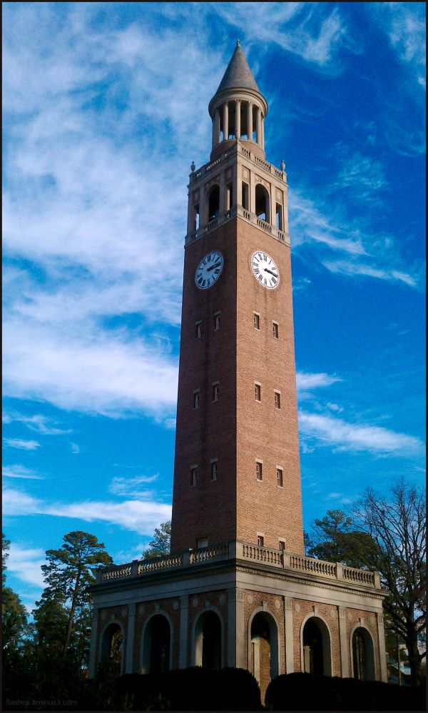 UNC Bell Tower Under a Carolina-Blue Sky