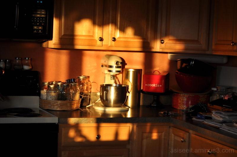 Kitchen morning shadows