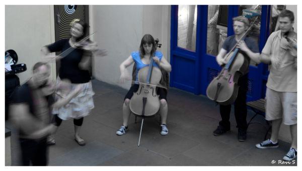 Blue Cellist