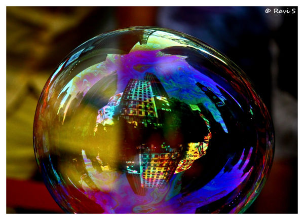 Times Square on a Bubble