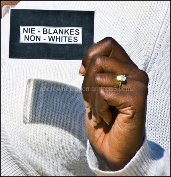 Diana with her non-white's pass