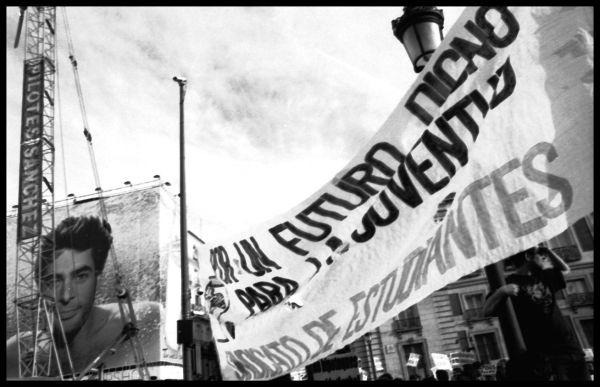 Manifestación por el derecho a techo en Madrid