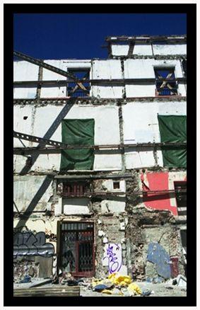 La destrucción del bar Malendro en Madrid