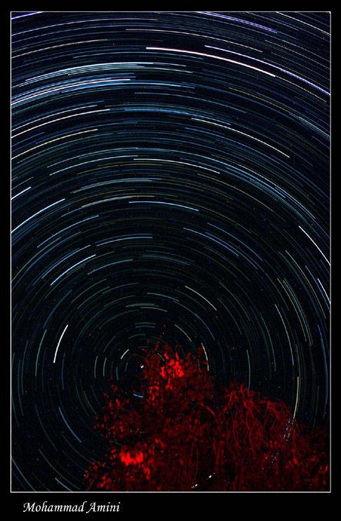 star trails...