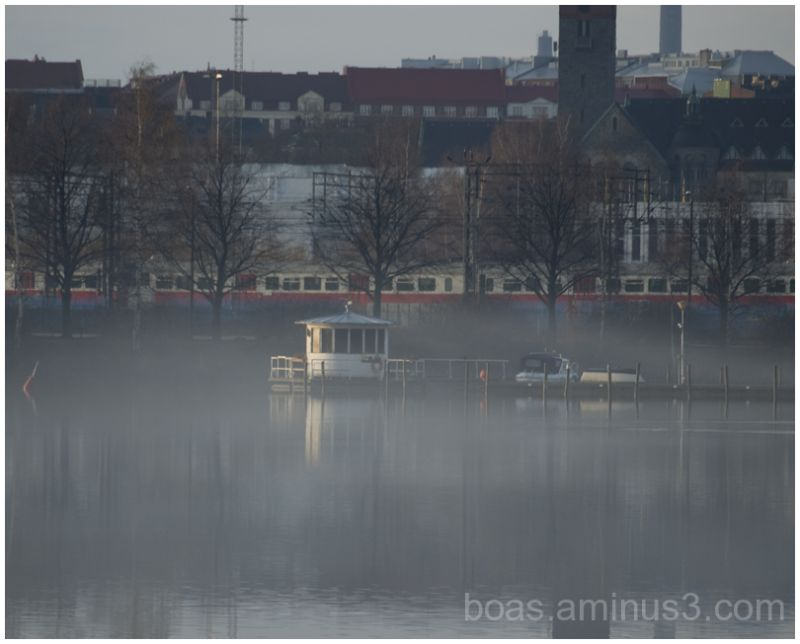A foggy morning in Helsinki