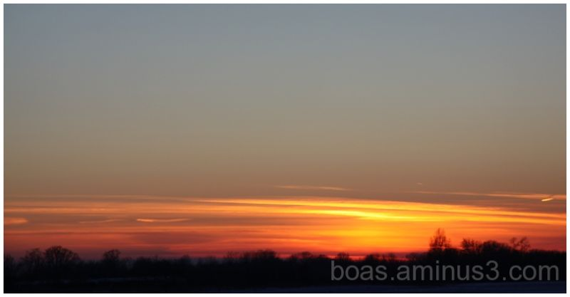Peaceful evening sky.