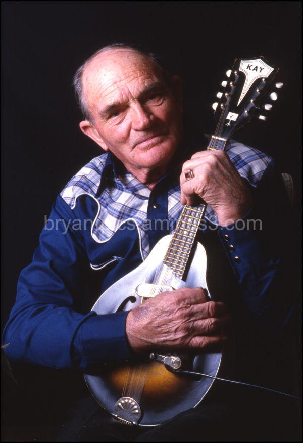 Portrait of musician & his mandolin