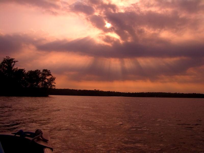 sepia image taken on White Earth lake in Minnesota