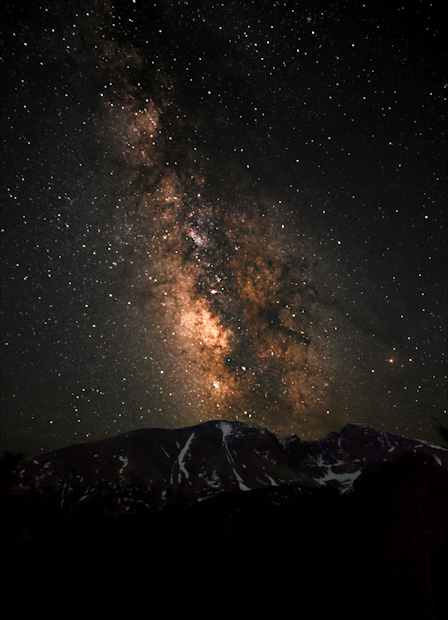 milky way galaxy night sky over great basin