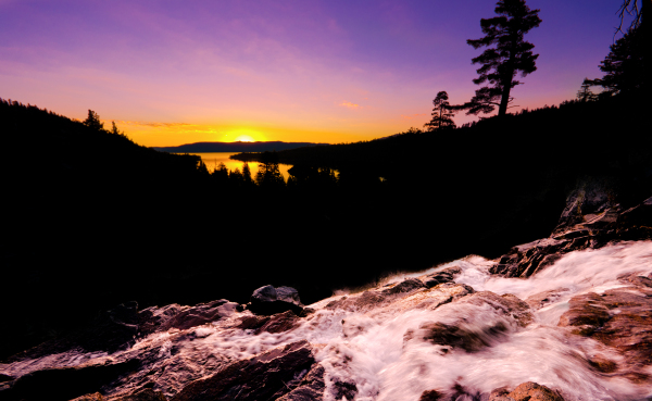 sunrise picture of Eagle Falls in Lake Tahoe