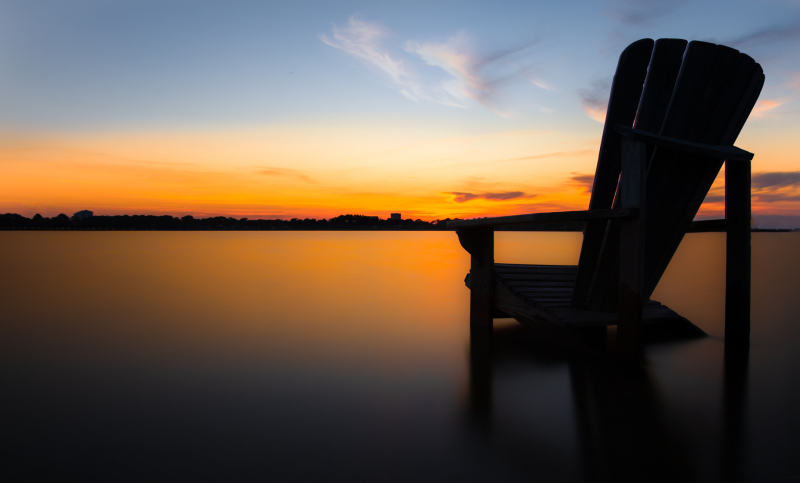 long exposure image of a chair in Destin Florida