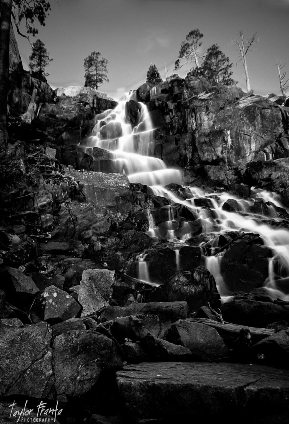 black and white eagle falls lake tahoe california