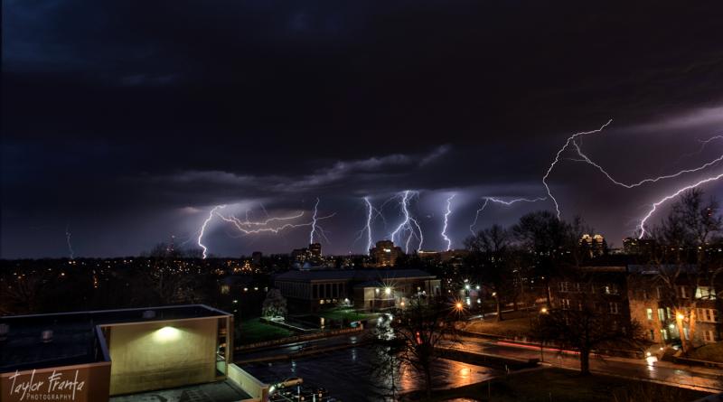 Lightning Storm In Kansas City Missouri