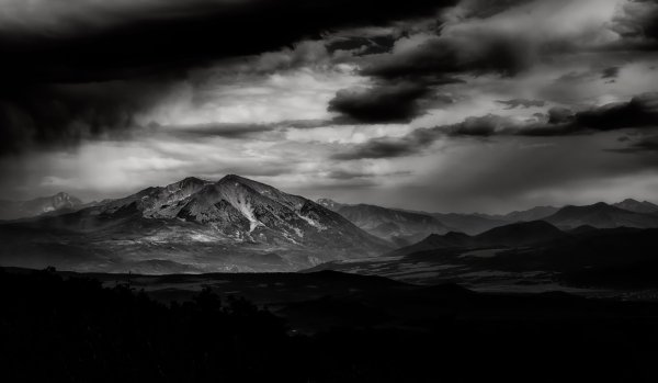 Mount sopris mountain storm in Colorado