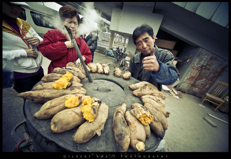 streets of beijing selling sweet potato