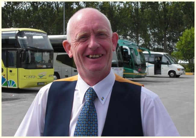 Happy coachdriver @ coachparking Bruges