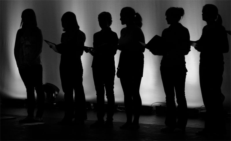 Sillhouette of Singers at Borlase Theatre, Marlow