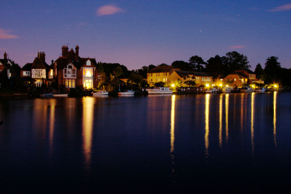 Marlow on the River Thames, Sunset Summer 2009