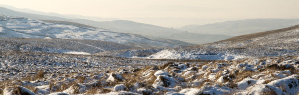 Snow on Yorkshire Dales,  Pen-y-Ghent Whernside
