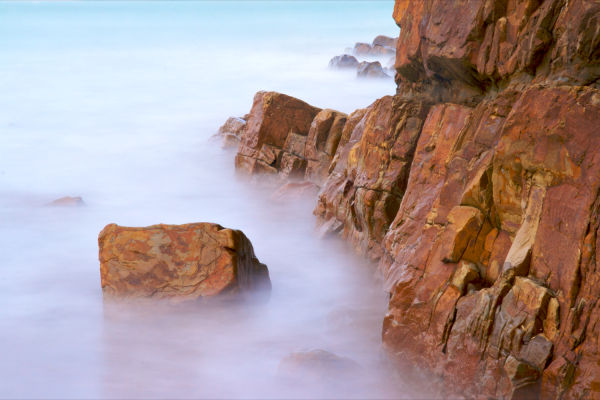 The Atlantic at Bude, Long Exposure before sunrise